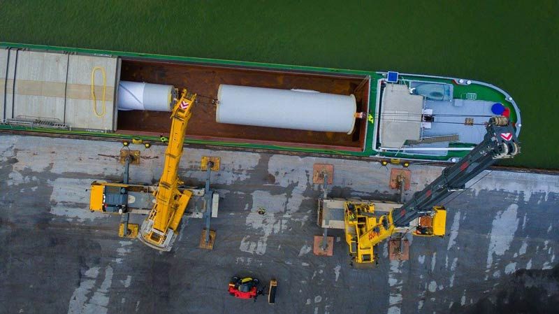 Logistik Windpark