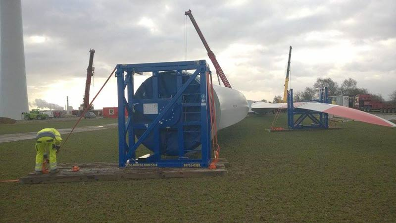 Windpark Schwertransport